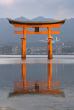 The Floating Miyajima Torii Gate of Itsukushima Shrine at Dusk 写真プリント : スチュアート・ブラック