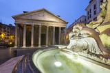 The Pantheon and Fountain at Night, Piazza Della Rotonda, Rome, Lazio, Italy Reproduction photographique par Stuart Black