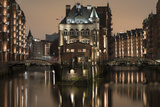 Speicherstadt District, Hafencity, Hamburg, Germany, Europe Fotografisk tryk af Ben Pipe