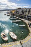 Venetian Harbour, Rethymno, Crete, Greek Islands, Greece, Europe Fotografisk trykk av Michael Runkel