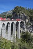 Landwasser Viadukt, Filisur, Graubunden, Swiss Alps, Switzerland, Europe Photographic Print by Angelo Cavalli