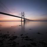 Vasco Da Gama Bridge over Rio Tejo (Tagus River) at Dawn, Lisbon, Portugal Photographic Print by Ben Pipe