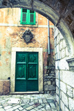 Building Detail, Stari Grad (Old Town), the Bay of Kotor, Kotor, Montenegro Photographic Print by Doug Pearson