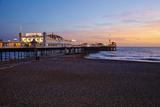 Brighton Pier, Brighton, Sussex, England, United Kingdom, Europe Fotografisk trykk av Mark Mawson