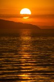 Sunset at Cape Maclear, Lake Malawi, Malawi, Africa Premium fototryk af Michael Runkel