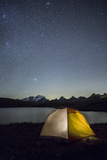 Camping under the Stars on Rosset Lake at an Altitude of 2709 Meters Photographic Print by Roberto Moiola