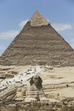 Sphinx in Foreground and Pyramid of Chephren, the Giza Pyramids, Giza, Egypt, North Africa, Africa Impressão fotográfica por Richard Maschmeyer