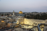 View over the Western Wall (Wailing Wall) and the Dome of the Rock Mosque, Jerusalem, Israel Photographic Print by Yadid Levy