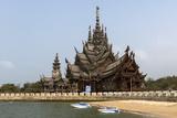 Sanctuary of Truth, Pattaya, Thailand, Southeast Asia, Asia Fotografisk trykk av Rolf Richardson