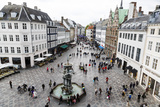Stroget, the Main Pedestrian Shopping Street, Copenhagen, Denmark, Scandinavia, Europe Photographic Print by Yadid Levy