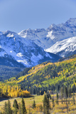 Fall Colors, Road 7, Sneffels Range in the Background Photographic Print by Richard Maschmeyer