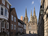 West Front, Lichfield Cathedral, Lichfield, Staffordshire, England, United Kingdom Photographic Print by Nick Servian