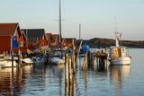 Boats and Timber Houses, Grebbestad, Bohuslan Region, West Coast, Sweden, Scandinavia, Europe Photographic Print by Yadid Levy