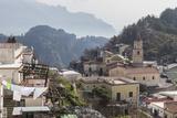 Pogerola and Misty Hillsides Beyond, Costiera Amalfitana (Amalfi Coast), Campania, Italy Photographic Print by Eleanor Scriven