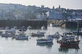 Little Fishing Boats in the Harbour of Saint Peter Port, Guernsey, Channel Islands, United Kingdom Fotografisk trykk av Michael Runkel
