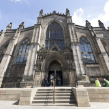St. Giles' Cathedral West Front, Edinburgh, Scotland, United Kingdom Photographic Print by Nick Servian