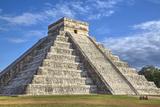 El Castillo (Pyramid of Kulkulcan), Chichen Itza, Yucatan, Mexico, North America Fotografisk tryk af Richard Maschmeyer
