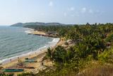 View over Anjuna Beach, Goa, India, Asia Reproducción de lámina sobre lienzo por Yadid Levy
