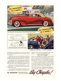 Chrysler Convertible Club Coupe Posters