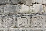 Stone Carved Hieroglyphs, Structure of Five Floors (Pisos), Edzna Impressão fotográfica por Richard Maschmeyer