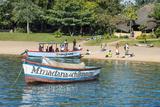 Boats on Lake Malawi, Cape Maclear, Malawi, Africa Fotografisk tryk af Michael Runkel