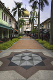 Road Leading to the Sultan Mosque in the Arab Quarter, Singapore, Southeast Asia, Asia Reproduction photographique par John Woodworth