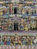 Sri Mariamman Hindu Temple, Singapore, Southeast Asia, Asia Reproduction photographique par John Woodworth
