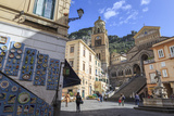 Pottery Shop, Fountain and Cathedral in Spring, Amalfi Photographic Print by Eleanor Scriven