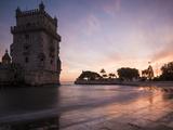 Belem Tower at Dusk (Torre De Belem), Lisbon, Portugal Stampa fotografica di Ben Pipe