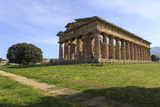Temple of Neptune, 450 Bc, Largest and Best Preserved Greek Temple at Paestum, Campania, Italy Fotografisk tryk af Eleanor Scriven