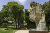 The Monumental Head by Igor Mitora in the Boboli Gardens, Florence, Tuscany, Italy Reproduction photographique par John Woodworth