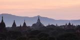 View Towards Shwesandaw Temple, Pagodas and Stupas at Sunset, Bagan (Pagan), Myanmar (Burma) Photographic Print by Stephen Studd
