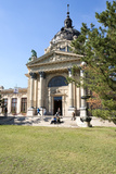 Exterior Facade with Columns and Sculptures of the Famed Szechenhu Thermal Bath House Reproduction photographique par Kimberly Walker