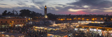 Panoramic View of (Jemaa) Djemaa El Fna Square and Koutoubia Mosque Photographic Print by Stephen Studd