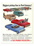 Ford 1963 Biggest Pickup Line Prints