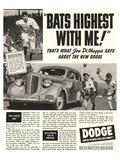 Dodge Ad With Joe Dimaggio Prints