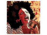 Afro American Jazz Singer Prints