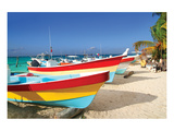 Beachboats Isla Mujeres Mexico Stampe