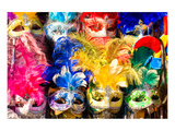 Carnival Face Masks Venice Prints