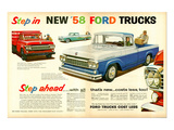 Ford 1958 Step in - Step Ahead Poster