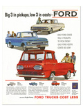 Ford 1961 Big 3 in Pickups Print