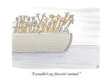 """I wouldn't say 'favorite' animal."" - New Yorker Cartoon Impressão giclée premium por Paul Noth"