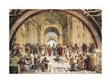 Stanza Della Segnatura: L'École d'Athènes Art sur métal  par  Raphael