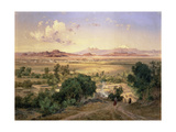 The Valley of Mexico from the Low Ridge of Tacubaya, 1894 Metalldrucke von Jose Velasco