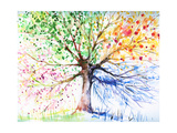 Baum Metalldrucke von  DannyWilde