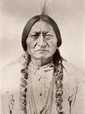 Sitting Bull Art sur métal  par David Frances Barry