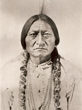 Sitting Bull Stampa su metallo di David Frances Barry