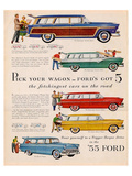 Ford 1955 Pick Your Wagon Posters