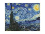 The Starry Night, June 1889 Metalldrucke von Vincent van Gogh