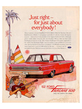 Ford 1962 Fairlane 500 - Beach Print
